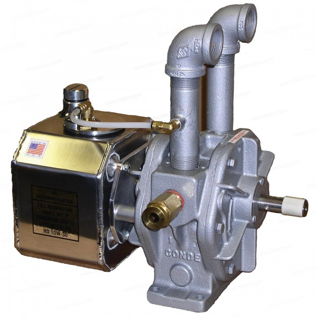 Condé® Clutch Driven Pump—Model 3 Vacuum Only with Tapered shaft, Clutch Plate and Remote Oiler