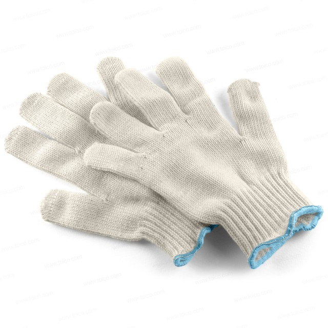 Gloves—Cotton String, 12 pair without Grip