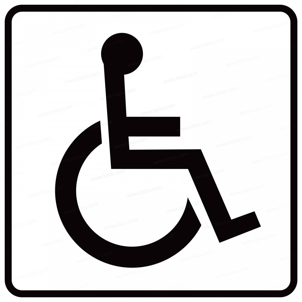 Handicap sign images galleries with a for Handicapped wheelchair