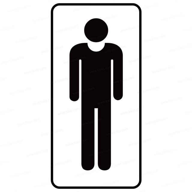 Restroom Decals and Signs—Man Graphic Decal