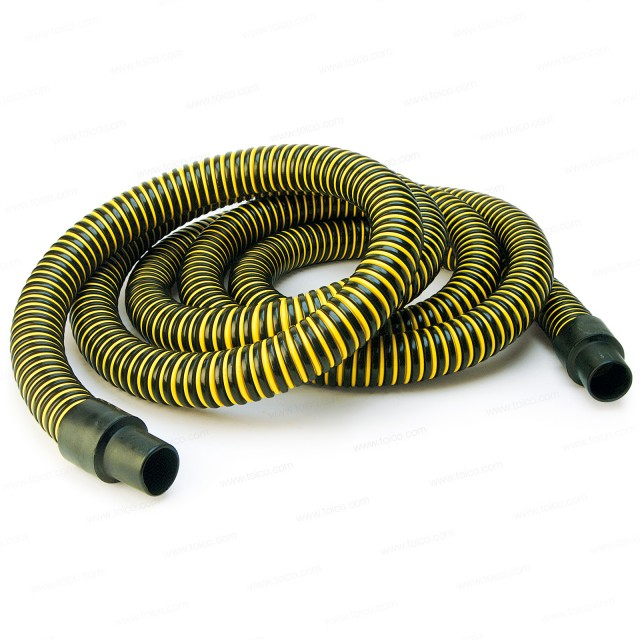 "Plastiflex® Tiger-Tail Hi-Vac Suction Hose—3"" x 20'"