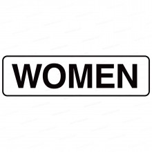 Restroom Decals and Signs—Women Text Sign